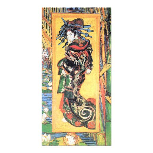 Japanese painting by Vincent van Gogh Custom Photo Card