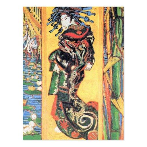 Japanese painting by Vincent van Gogh Postcard