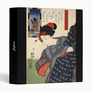 Japanese Painting c. 1800's Vinyl Binder