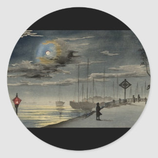 Japanese Painting circa 1915 Classic Round Sticker