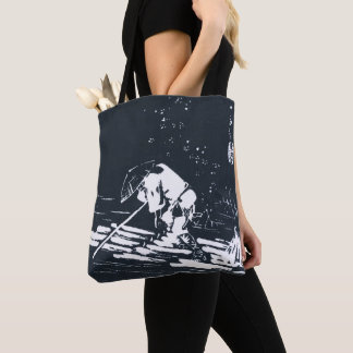 Japanese Painting Hanaikada in Black&White Tote Bag