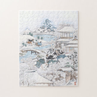 Japanese Painting of the 47 Ronin Fighting Samurai Jigsaw Puzzle