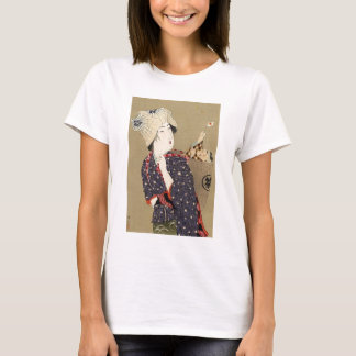Japanese Painting. Woman with baby c. 1909 T-Shirt