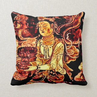 Japanese Pandora Art Nouveau Throw Pillow