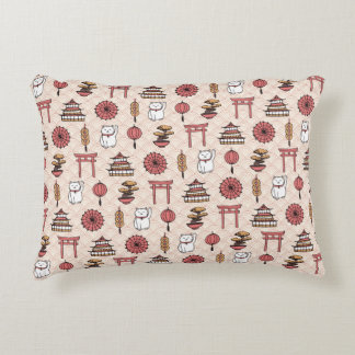Japanese Pattern Accent Pillow