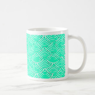 Japanese Pattern in Green Coffee Mug