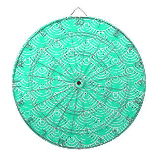 Japanese Pattern in Green Dartboard