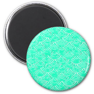 Japanese Pattern in Green Magnet