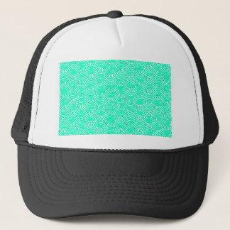 Japanese Pattern in Green Trucker Hat