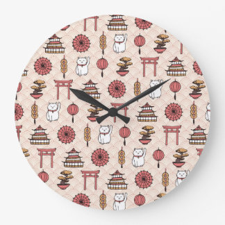 Japanese Pattern Large Clock
