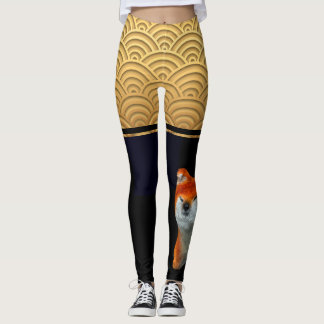 Japanese pattern Shiba Dog Year Leggings