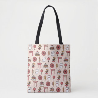 Japanese Pattern Tote Bag