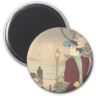 Japanese Polychrome woodblock print Magnet