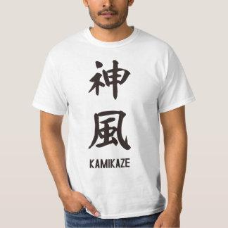 """Japanese popular kanji """"KAMIKAZE"""" T-Shirt"""