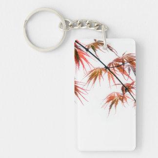 Japanese Red Maple Art Photography Double-Sided Rectangular Acrylic Keychain