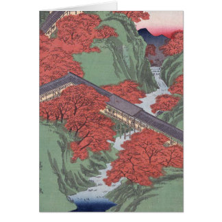 Japanese red maple card