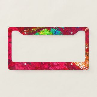 Japanese Red Maple Leaves 4 License Plate Frame