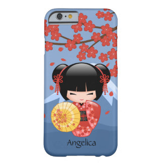 Japanese Red Sakura Kokeshi Doll Barely There iPhone 6 Case