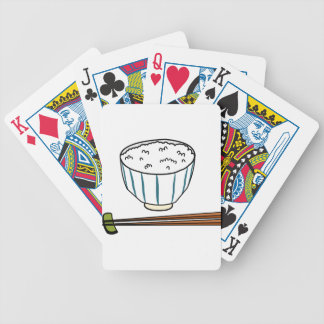 Japanese Rice Bowl Bicycle Playing Cards
