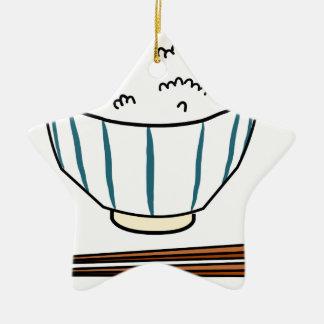 Japanese Rice Bowl Ceramic Ornament