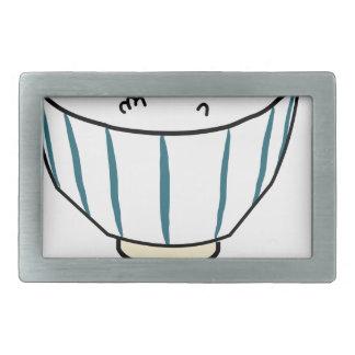 Japanese Rice Bowl Rectangular Belt Buckle