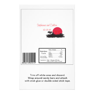 Japanese Rising Sun Wedding Lg Candy Bar Wrapper