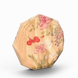 Japanese Rose Wisteria Flowers Floral Paperweight