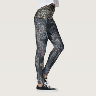Japanese Royal Paisley Two Tone Leggings