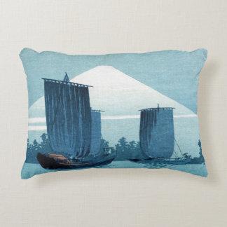 Japanese Sailboats Pillow