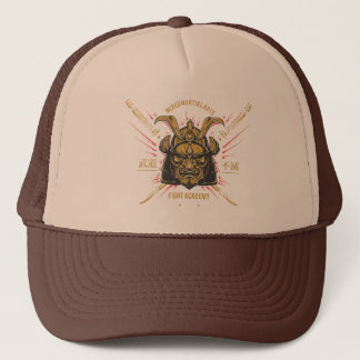 Japanese Samurai Gold Mask. Trucker Hat