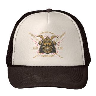 Japanese Samurai Gold Mask. Trucker Hat