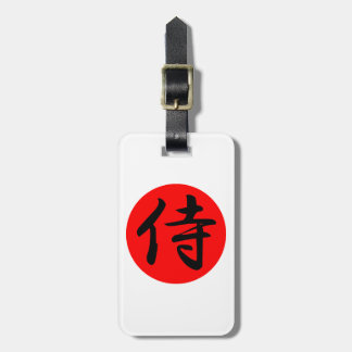 Japanese Samurai Kanji Symbol Luggage Tag