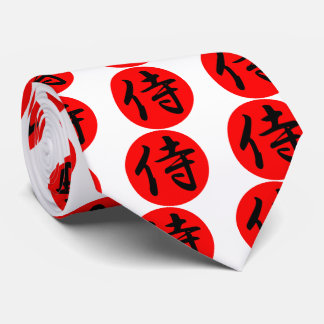 Japanese Samurai Kanji Symbol Tie