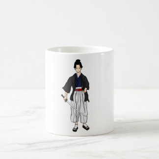 Japanese Samurai Warrior with Katana Sword Coffee Mug