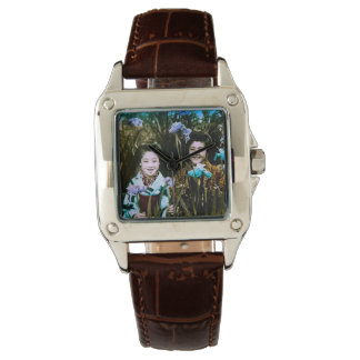 Japanese School Girls in the Garden Vintage Wristwatch