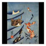 Japanese Sea Life, Ancient Japanese art. c. 1800's Poster