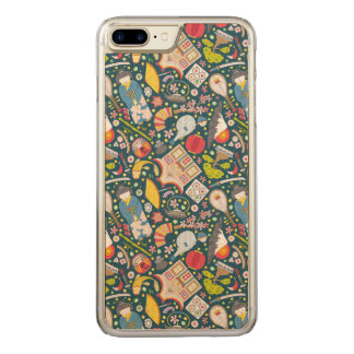 Japanese Seamless Pattern Carved iPhone 8 Plus/7 Plus Case