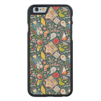 Japanese Seamless Pattern Carved Maple iPhone 6 Case