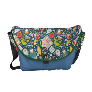 Japanese Seamless Pattern Courier Bag