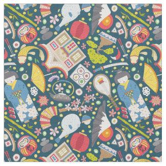 Japanese Seamless Pattern Fabric