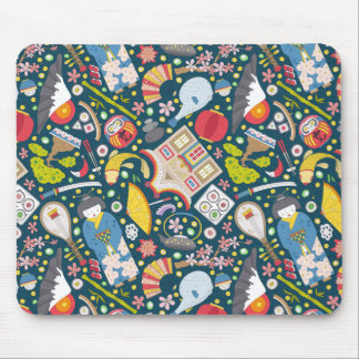 Japanese Seamless Pattern Mouse Pad