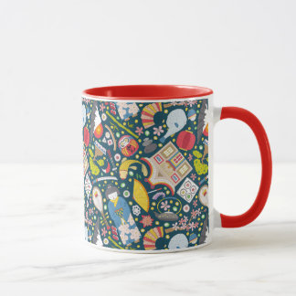 Japanese Seamless Pattern Mug