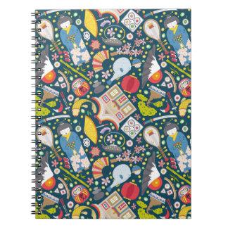 Japanese Seamless Pattern Notebook