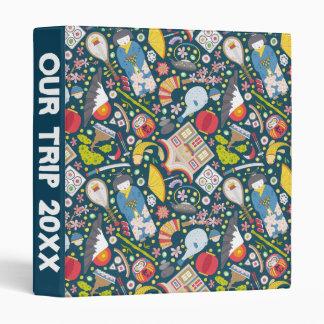 Japanese Seamless Pattern Vinyl Binder