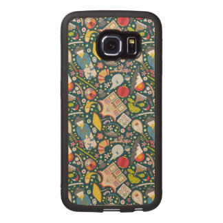 Japanese Seamless Pattern Wood Phone Case