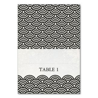 Japanese Seigaiha Foldable Place Card Setting