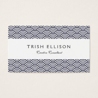 Japanese seigaiha Ocean Wave Business Card