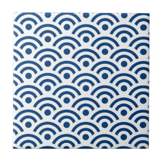 Japanese Seigaiha Waves Seamless Pattern Tile
