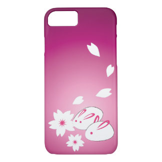 Japanese Snow Rabbits and Sakura iPhone 7 Case