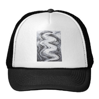 Japanese Snow Spirit(black and white surrealism) Trucker Hat